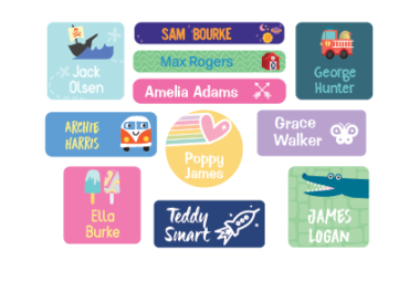 Personalised Labels for School Stuff